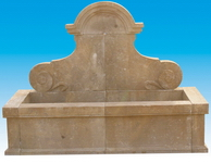 Carved Stone Wall Fountain