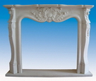 Hand Carved Stone Fireplace Mantels