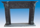 Black Granite Fireplace Mantel