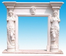 Statue Fireplace Mantel in Marble