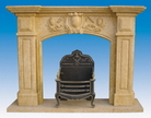 Carved Stone Fireplace Mantels