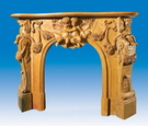 Carved Solid Stone Fireplace Mantel