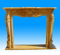 Solid Stone Fireplace Mantels