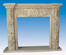 Fireplace Mantel of Sandstone