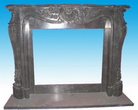 Granite Carved Fireplace Mantel