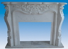 Marble Carved Fireplace Mantel