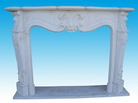 Carved Marble Fireplace Mantel