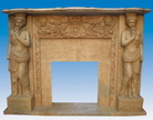 Carved Sandstone Fireplace Mantel