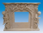 Hand Carved Sandstone Fireplace Mantel