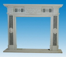 Carved Natural Stone Fireplaces