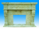 Carved Natural Stone Fireplace Mantels