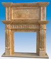 Handcarved Stone Fireplace Mantels