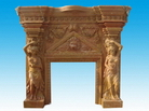 Stone Carved Fireplace Mantels