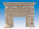 Carved Sandstone Fireplace Surrounds