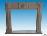 Carved Stone Fireplace Mantel