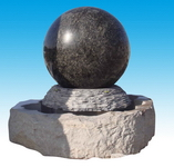 Rolling Ball Stone Fountain