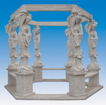 Hand Carved Stone Gazebo