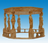 Carved Gazebo for Garden