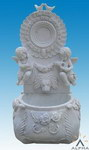 Carved Stone Statue Water Fountain