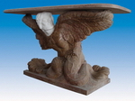 Carved Garden Stone Table