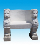 Carved Stone Bench for Garden