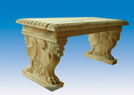 Carved Stone Benches